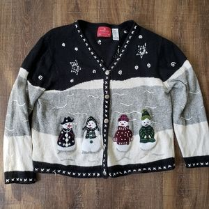 Holiday Lodge by Northcrest Snowman Ugly Sweater